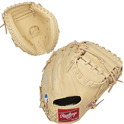 Rawlings Pro Preferred Catchers Baseball Glove, 1-Piece Solid Web, 34 inch, Right Hand Throw