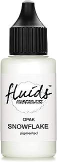 30ml Fluids Alcohol Ink SNOWFLAKE, tusz alkoholowy do fluid artu i żywicy, biały, blanco