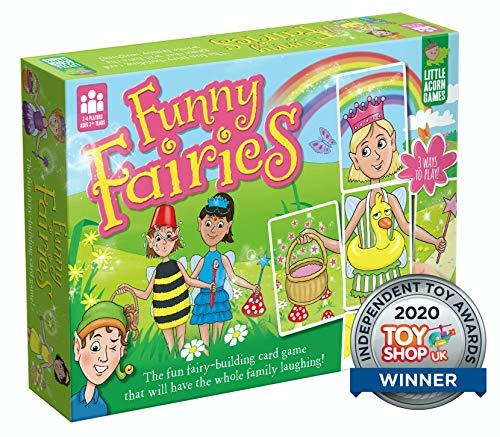 Little Acorn Games Funny Fairies Award-Winning Family Board Game for Kids | Children's Board Game | Kids Game For Girls Age 3 4 5 6 7 8+ Year Old Girl and Boys | Gift for Girls and Boys