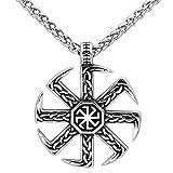 GuoShuang Kolovrat amulet slavic Stainless steel knot pendant necklace