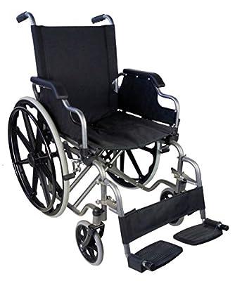 Si buscas una silla de ruedas plegable y ULTRALIGERA (solo 16 kilos), esta es la silla de ruedas adecuada. Además de marca Española. Asiento de 46 cm.