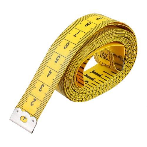 Sourcingmap Tailor Craft flexibel Lineal Maßband Gelb 300cm/304,8cm