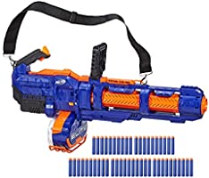 Hasbro E2865Eu4 Nerf Elite Titan Cs-50 Leksaksblaster, Blå och Orange