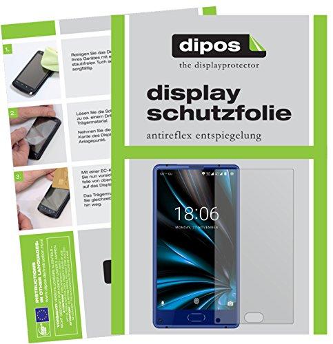 dipos I 2X Schutzfolie matt kompatibel mit Doogee Mix Lite Folie Bildschirmschutzfolie