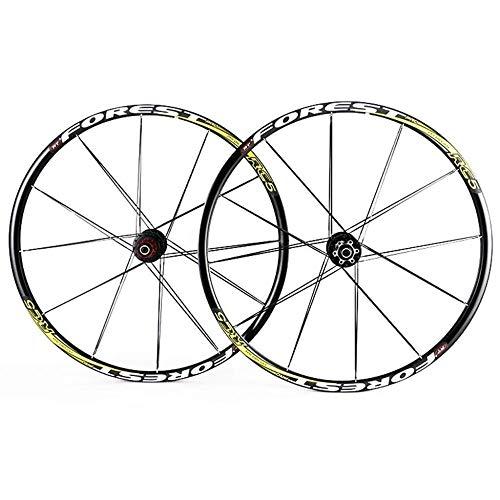 XIAOL Juego De Ruedas De Disco De Bicicleta MTB 26 Llanta MTB De Doble Pared De 27.5 Pulgadas 24 / 24H Compatible con QR 7 8 9 10 11 Velocidad,26inch