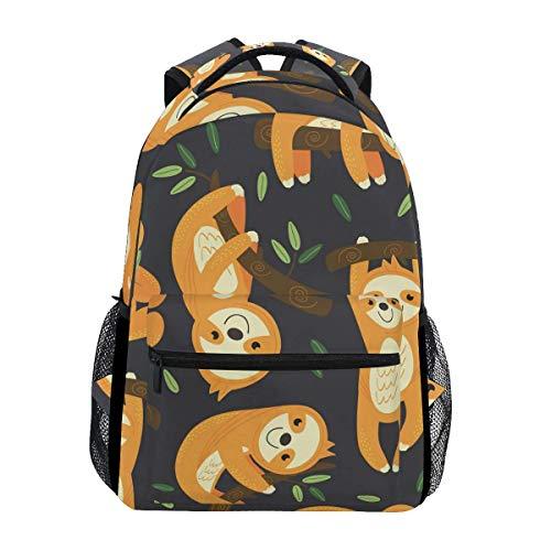 Mochila escolar escolar para viajes, bolsa de viaje, para exteriores, linda perezosa