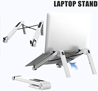 Laptop Stand, Folding Portable Computer Stand, Aluminum Computer Lifter, Suitable for Desktop, Metal Stand, Bed Sofa,Silver