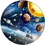 Cuteefun Redondo Puzzle 1000 Piezas para Adultos Planeta Espacial Rompecabezas De Cartón para Juego Familiar Decoración Hogareña
