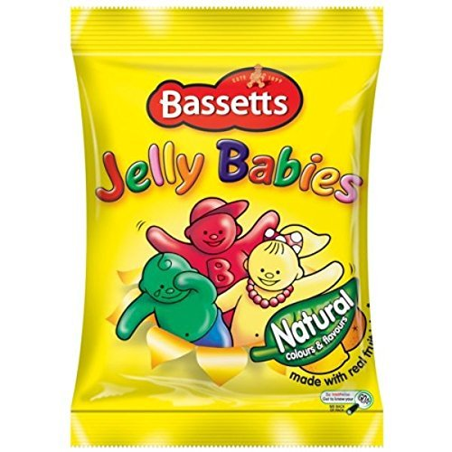 Maynards Bassetts Jelly Babies Sweets Bag 165g (Pack of 3)