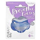 CURAPROX Baby Schnuller, blauer Schnuller, mit Aufbewahrungsbox, Größe 1; 7 bis 10kg bzw. 7-18 Monate, Pacifier, Soothie, blau, 1 Stück, 22 g