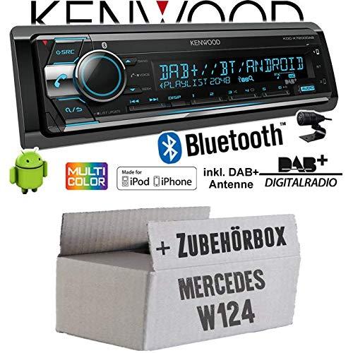 Autoradio Radio Kenwood KDC-X7200DAB - DAB+   Bluetooth   CD   2X USB hinten   iPhone/Android - Einbauzubehör - Einbauset für Mercedes W124 - JUST SOUND best choice for caraudio
