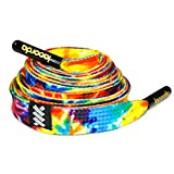 Shoelace Belt - Tie Dye: Premium Quality, 100% Polyester, Metal Aglets, Durable, Comfortable - Lacorda Threads (Small 53' (135cm))