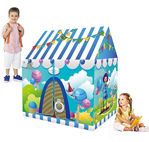 Ydq Kids Play Tent, Amusement Park Houses Great Tractor Toy, Sun Shelter Playhouse | Den for Indoor Outdoor Garden Gazebo for Children Camping Picnic Travel