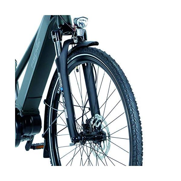 51f9fu3n5 L. SS600  - FISCHER Damen - E-Bike Trekking VIATOR 4.0i, schwarz oder grün matt, 28 Zoll, RH 44 cm, Mittelmotor 50 Nm, 48 V Akku im Rahmen