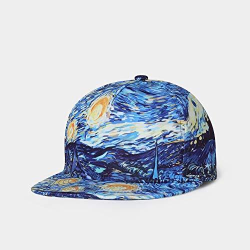 WZC Hut Für Männer Und Frauen Kunst Drucken Lässige Baseballmütze Sport Sonnenhut Stylisch Verstellbare Sportmütze Unisex/Blau/Einstellbar
