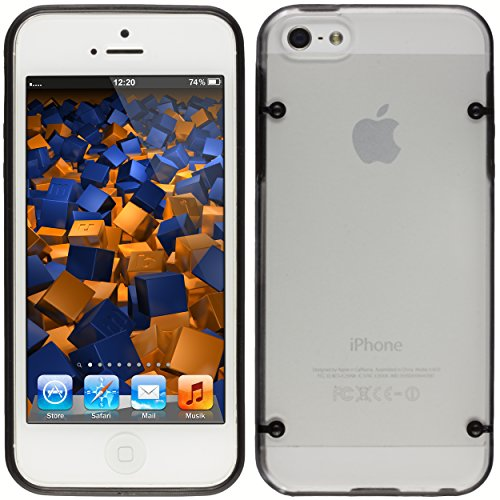 mumbi Hartschale kompatibel mit iPhone SE / 5S Handy Hard Case Handyhülle, schwarz