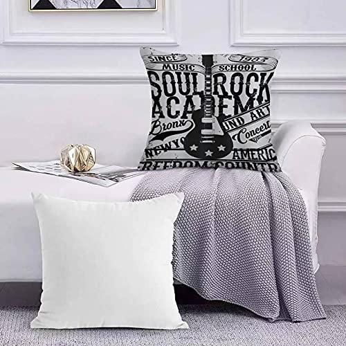 Funda de Cojín Funda de Almohada del Hogar Póster Retro Soul Rock...
