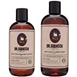 Dr. Squatch Shampoo + Conditioner Set – Keep Hair Looking Full, Healthy, Hydrated – Naturally Sourced Formula for Men – Organic Tea Tree Oil & Peppermint – Manly Scents (8 + 12 oz)