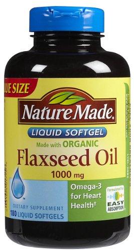 nature made flaxseed oils Nature Made Flaxseed Oil - 1000 mg - 180 Liquid Softgels (Packaging may vary)