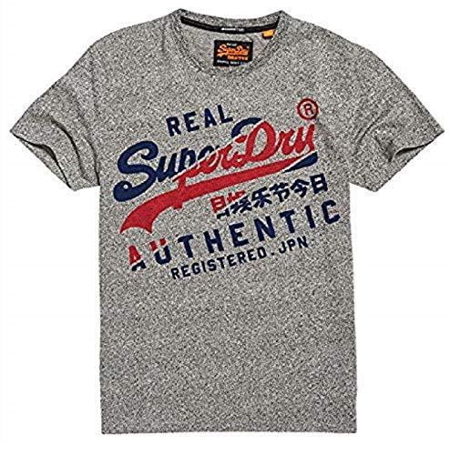 Superdry Men's T-Shirt Vintage Authentic TEE, Phoenix Grey grit, L