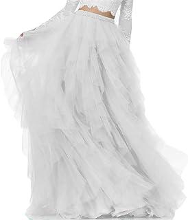 955d893d25 Dydsz Women's Long Tutu Tulle Skirt Floor Length Skirts for Wedding Prom  Fomal D211