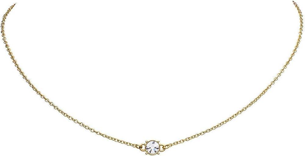 Faye® collana per donna girocollo diamond choker - realizzata in oro giallo e oro rosa FY-IPG-2-012