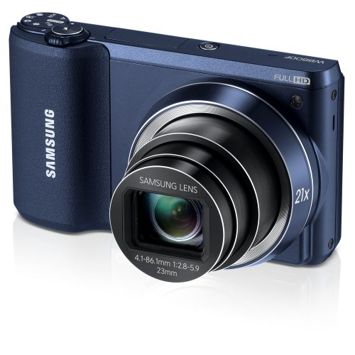 """Samsung WB800F 16.3MP CMOS Smart WiFi Digital Camera with 21x Optical Zoom, 3.0"""" Touch Screen LCD and 1080p HD Video (Black)"""