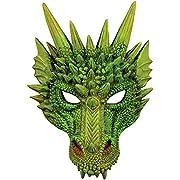 Forum Novelties 79488 Unisex Adult Standard Dragon Half Mask, One Size, Green