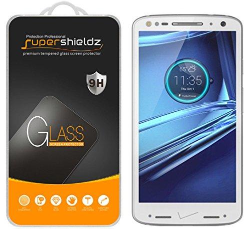 [2er Pack] Supershieldz für Motorola Droid Turbo 5,1cm gehärtetem Glas Bildschirmschutzfolie, Kratzfest, Keine Fingerabdrücke, blasenfrei, lebenslange Umtausch-Garantie