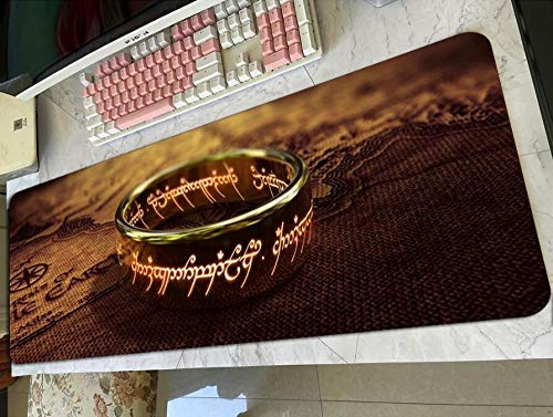 Gaming Mouse Pads Lord of The Ring Padmouse Gaming Mousepad Game Kawaii Mouse Pad Gamer Computer Desk Pc Mat Notbook Mousemat E(40×90Cm)