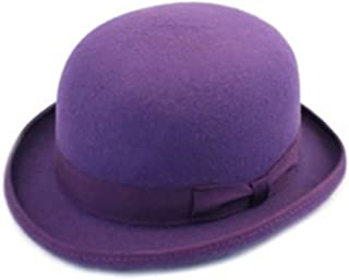 rivestito in satin Cappello a cilindro di alta qualit/à 100/% lana inscatolato Purple Small