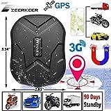 Zeerkeer GPS Tracker 3G Rete 5000mah 60 Giorni in Standby Impermeabile e Anti-perso Localizzatore GPS,Geo-fence Alarm, App Gratuita Antifurto per Auto con Forte Magnete per Auto Camion Moto TK905