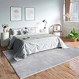 Mia´s Teppiche Olivia - Alfombra de salón, 100% poliéster, Gris, 60 x 110 cm