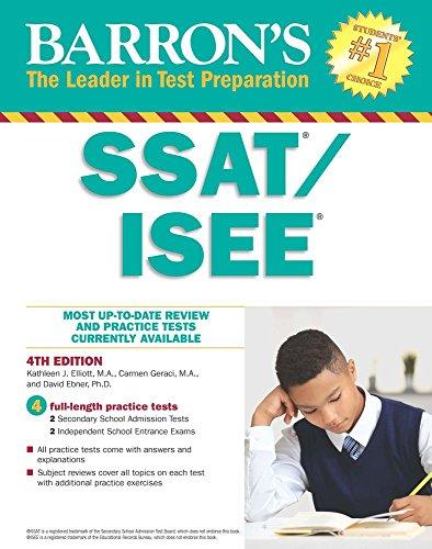 SSAT/ISEE: High School Entrance Examinations (Barron's Test Prep)