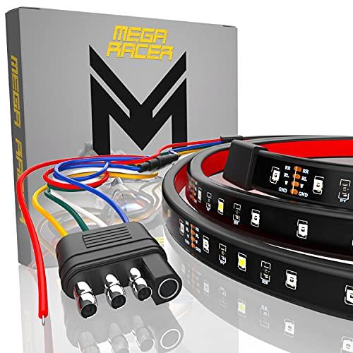 Mega Racer Single Row 60 Inch LED Tailgate Light Bar for Trucks - 5 Functions...