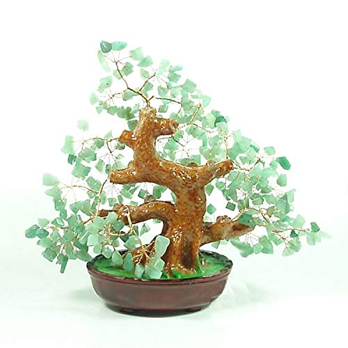 CROSYO 1pc Natural Dongling Jade Crystal Fortune Tree Adornos Fortune Tree