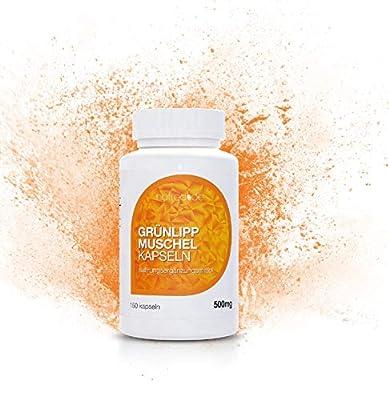 Natrea Grünlippmuschel Kapseln   150 Kapseln hoch konzentriert ca. 60 Tage Anwendung reich an Omega-3-Fettsäuren für gesunde Gelenke und kräftige Sehnen