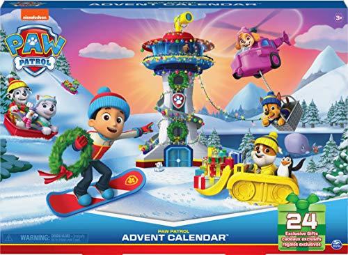 PAW Patrol Paw Patrol Adventskalender 2021 mit 24 exklusiven Spielzeugfiguren und Zubehör, ab 3 Jahren