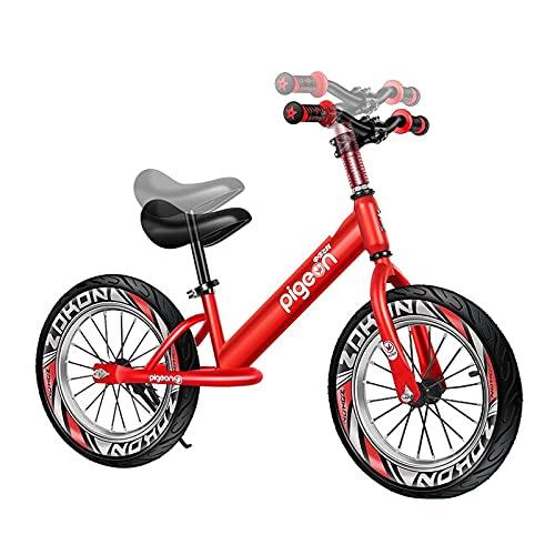 Bicicleta Sin Pedales Equilibrio Aluminio de 16 Pulgadas Bicicleta de Equilibrio para Niñas Grandes, para La Altura del Niño 118-150 Cm, Ligero Sin Pedales Deporte Bicicleta para Caminar para El Entre