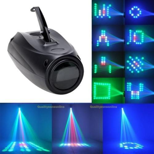 UKing 64 LED Muster Lichteffekte, RGBW Disco Beleuchtung mit 1000 Mustern und Sprachsteuerungsfunktion,LED Partylicht für Discos,Clubs,Hochzeiten,Bars,Bankette