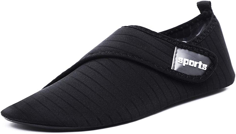 Water Sports shoes Barefoot QuickDry Aqua Yoga Socks Slip for Men Women Breathable Swimming Beach Sport (2 Pairs),Black,L