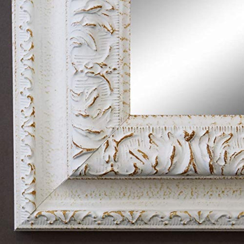 Online Galerie BinGold Spiegel Wandspiegel Badspiegel Flurspiegel Garderobenspiegel - über 200 Gren - Rom Wei 6,5 - Auenma des Spiegels 80 x 100 - Wunschmae auf Anfrage - Antik, Barock