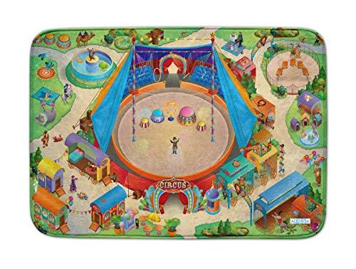 Spielteppich Ultrasoft - Rutschfest 100 x 150 cm (Circus)