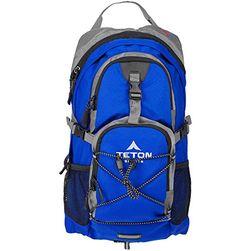 TETON Sports Oasis 1100 2 Liter Hydration Backpack Perfect for Skiing Running Cycling Biking Hiking Climbing and Hunting 2 L Water Bladder Included Free Rain Cover Included Bright Blue