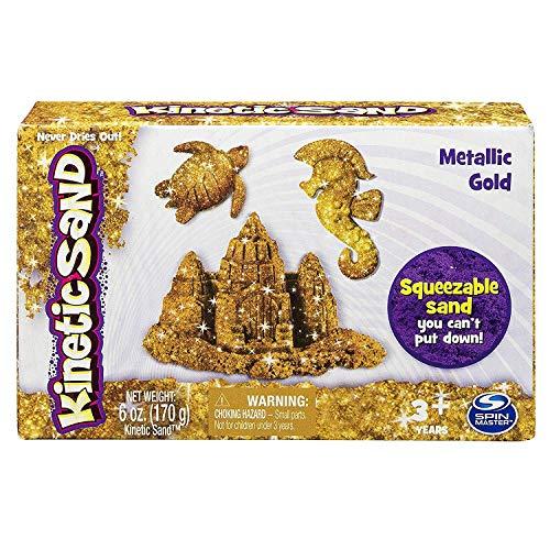 Kinetic Sand Arena con Brillos Gemas Preciosas - Color Dorado