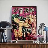 hengyuanxiang Anime Japonés Yuyutsu Kaisen Iillustration Retro Calidad Lienzo Pintura Carteles Dormitorio Sala De Estar Bar Arte Pared Decoración del Hogar Imagen G879 50X70Cm