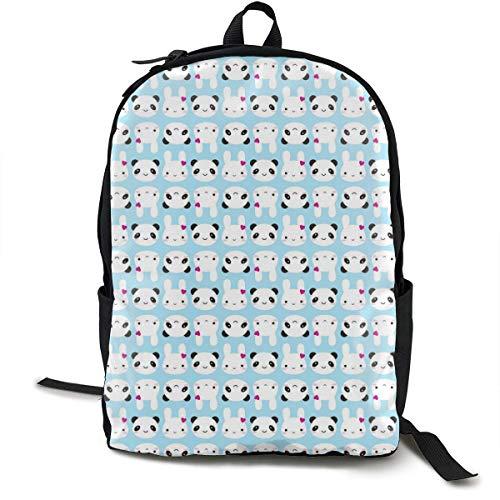 Zaino Lavoro,Zaino,Portatile Zaino,Simpatici Coniglietti Kawaii E Panda Zaino Unico Durevole Oxford Outdoor College Studenti Busines Borse A Tracolla Per Laptop