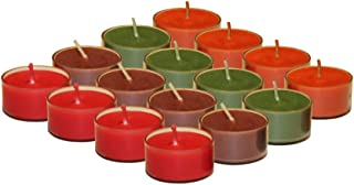 KRIXOT Scented Set of 48 Soy Wax Tealights in 4 Assorted Fragrances | Pumpkin Spice, Fall Leaves, Cinnamon Sticks and Rhubarb Raspberry | Candles for Home Decor | Burn Time Upto 4 Hrs