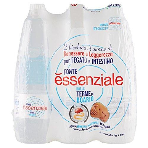 Essenziale Acqua Minerale Naturale - 6 Bottiglie da 1 Litro