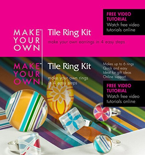 Ring Jewelry Making Kit -Make Your Own Rings for Girls - Beginners - Teens and Adults - Includes All the Jewelry Supplies Needed to Get Started